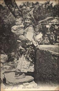Ak Jeune Femme Mauresque, Araberin, Kinder, Maghreb