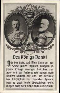 Passepartout Ak König Ludwig III. von Bayern, Kronprinz Rupprecht von Bayern