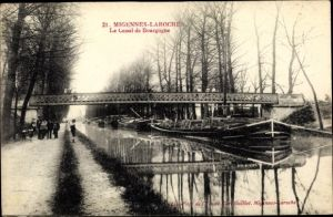 Ak Laroche Migennes Yonne, Le Canal de Bourgogne