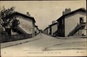 Ak Laroche Migennes Yonne, La Cité, une Rue