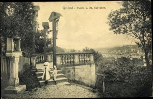 Ak Schwäbisch Gmünd im Ostalbkreis, Partie von St. Salvator