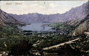 Ak Kotor Montenegro, Cattaro, Panorama mit See