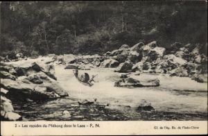 Ak Laos, Les rapides du Mékong dans le Laos, Flusspartie