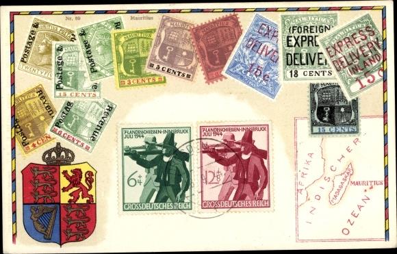 Briefmarken Ak Mauritius, Cents