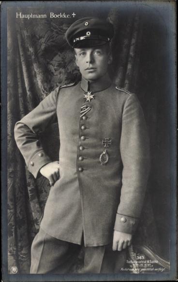 Ak Jagdflieger Oswald Boelcke, Sanke 363, Trauerkarte