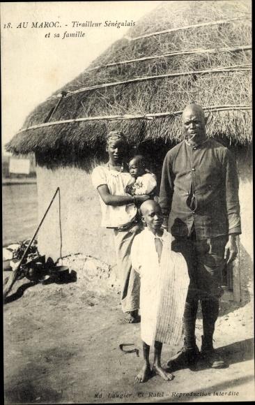 Ak Au Maroc, Tirailleur Sénégalais et sa famille