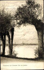 Ak Konstanz am Bodensee, Ort vom Schweizer Ufer aus gesehen