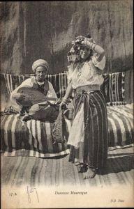 Ak Danseuse Mauresque, Araberin, Tänzerin, Maghreb