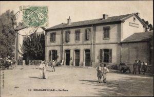 Ak Orleansville Ech Cheliff Algerien, La Gare