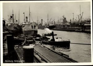 Ak Hamburg, Hafenpartie, Schlepper Kriemelberg