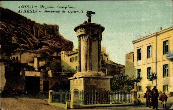 Ak Athen Griechenland, Monument de Lysicrate