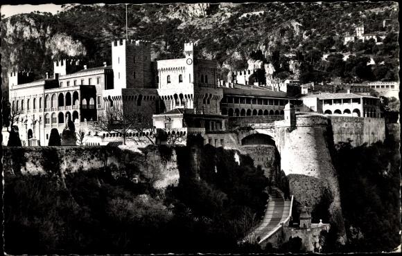 Ak Monte Carlo Monaco, Aufgang zum Prinzenschloss