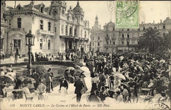 Ak Monte Carlo Monaco, Le Casino et l'Hotel de Paris