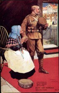 Künstler Ak Wood, Lawson, Duty and Honour bid us part, Soldat nimmt Abschied