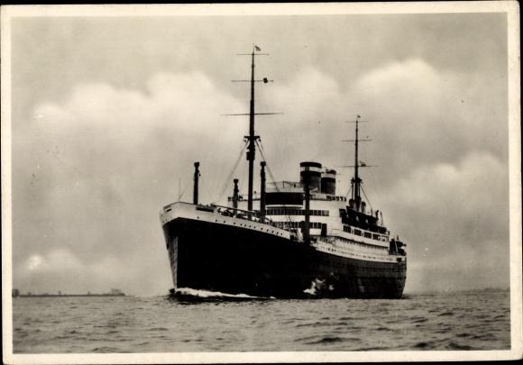 Ak Schnelldampfer Hamburg, HAPAG, Dampfschiff 0