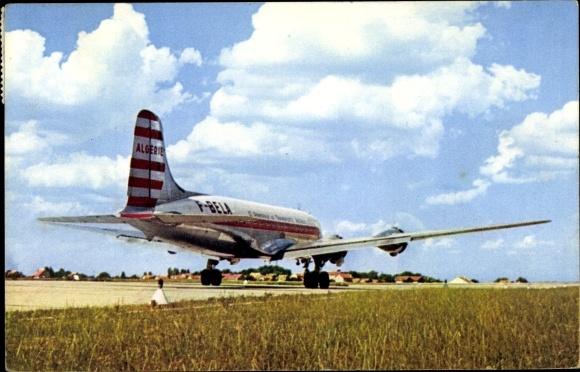 Ak Quadrimoteur Douglas DC 4, Cie Air Algérie, Passagierflugzeug, F-BELA