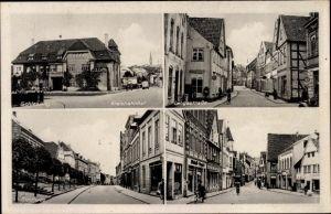Ak Schleswig in Schleswig Holstein, Kreisbahnhof, Langestraße, Stadtweg, Kornmarkt