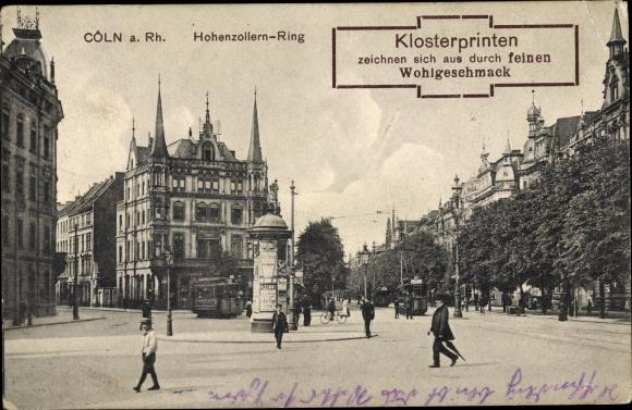 Ak Köln am Rhein, Hohenzollernring, Klosterprinten