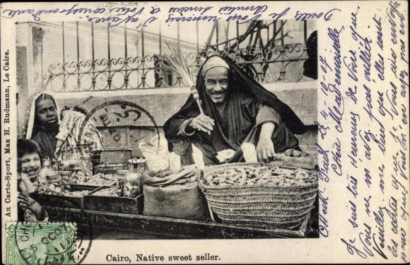 Ak Cairo Kairo Ägypten, Native sweet seller