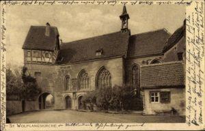 Ak Rothenburg ob der Tauber Mittelfranken, St. Wolfgangskirche