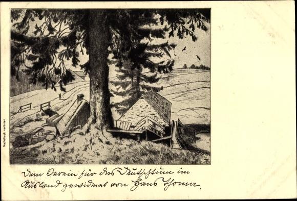 Künstler Ak Thoma, Hans, Verein für das Deutschtum im Ausland, Landschaft