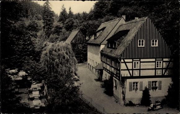 Ak Kleinhennersdorf Gohrisch in Sachsen, Waldidyll Liethenmühle