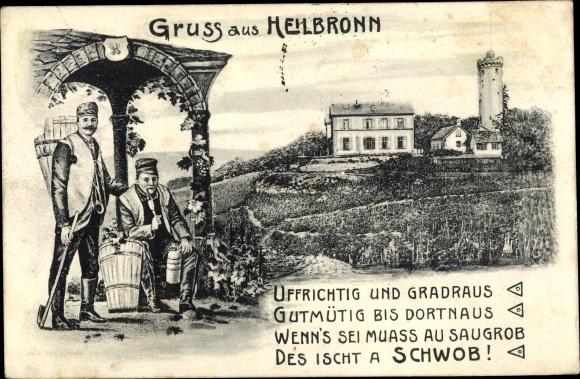 Ak Heilbronn in Baden Württemberg, Weinlese