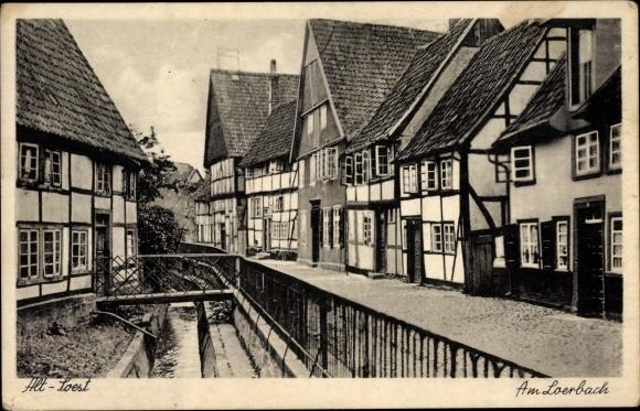 Ak Soest in Nordrhein Westfalen, Am Lierbach, Straßenpartie