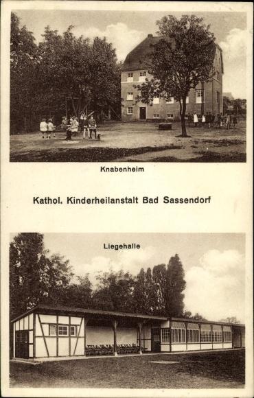 Ak Bad Sassendorf im Kreis Soest, Knabenheim, Liegehalle