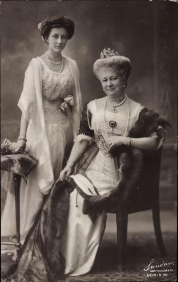 Ak Kaiserin Auguste Viktoria, Prinzessin Victoria Luise von Preußen, Pelzstola