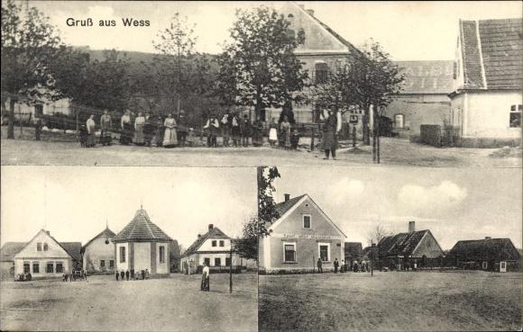 Ak Wess, Dorfansichten, Anwohner, Gasthaus von Josef Albl