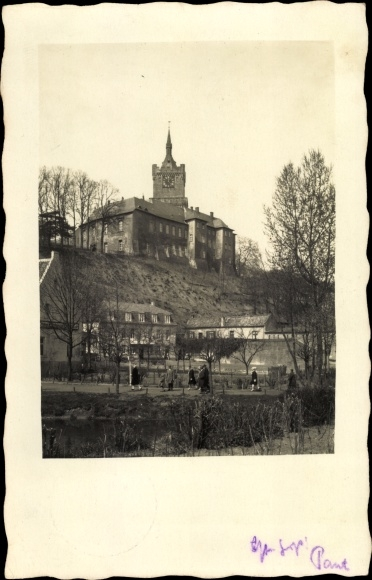 Foto Ak Graz Steiermark, Schloss, Uhrturm, Uferpartie