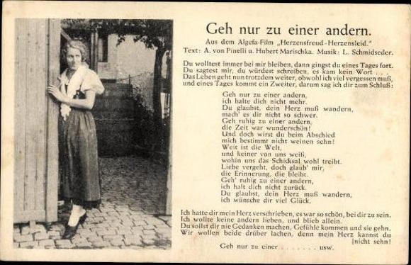 10 alte Ansichtskarten Lieder, Gedichte, verschiedene Ansichten