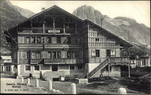 Ak Maloja Kt. Graubünden, Osteria Vecchia