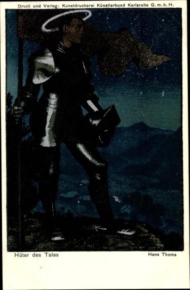 Künstler Ak Thoma, Hans, Hüter des Tales