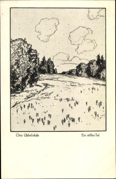Künstler Ak Ubbelohde, Otto, Ein stilles Tal
