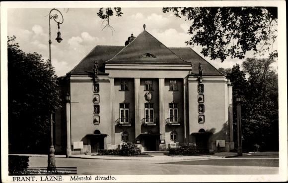 Ak Františkovy Lázně Franzensbad Reg. Karlsbad, Mestske divadlo, Theater