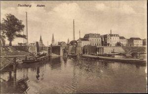 Ak Duisburg im Ruhrgebiet, Hafenpartie
