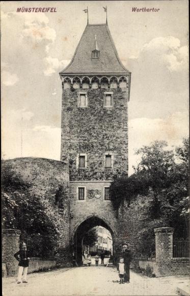 Ak Bad Münstereifel in Nordrhein Westfalen, Werther Tor Nr ...
