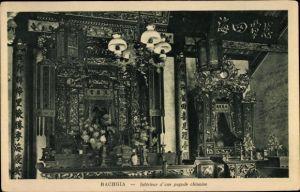Ak Rachgia Vietnam, Intérieur d'une pagode chinois