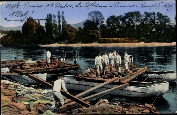 Ak Das Deutsche Heer, Pioniere beim Brückenbau