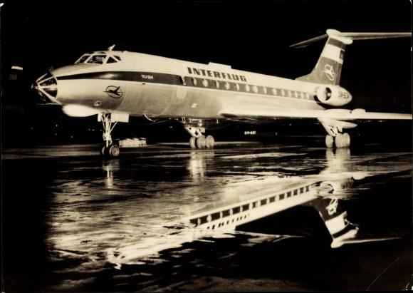 Ak Tupolev Tu-134, Turbinenluftstrahlverkehrsflugzeug, Interflug