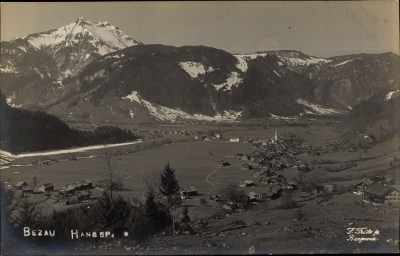 Ak Bezau in Vorarlberg, Panorama