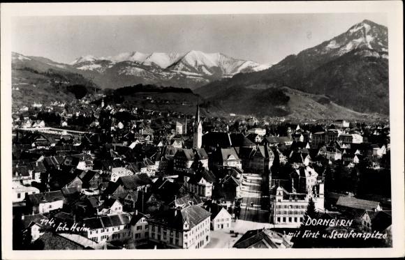 Ak Dornbirn in Vorarlberg, Ort, First, Staufenspitze