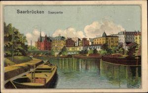 Künstler Ak Saarbrücken im Saarland, Saarpartie, Fähren