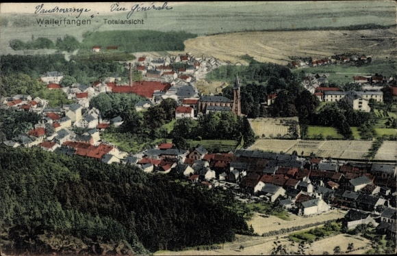 Ak Wallerfangen Saarland, Totalansicht, ORtschaft