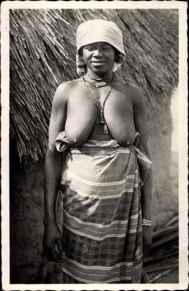 Ak Afrique occidentale francaise, Femme Cérère, Afrikanerin, Barbusig