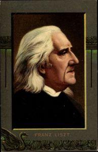 Künstler Ak Komponist Franz Liszt, Liszt Ferencz, Portrait, NKG 880