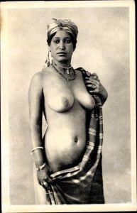 Ak Beauté Arabe, Portrait, Étude de nu Indigène