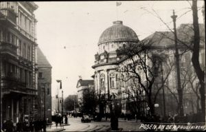 Foto Ak Poznań Posen, An der Paulikirche